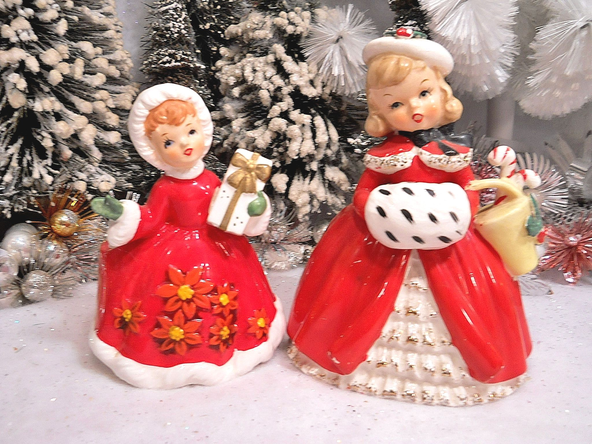 Vintage christmas figurines made in japan decore