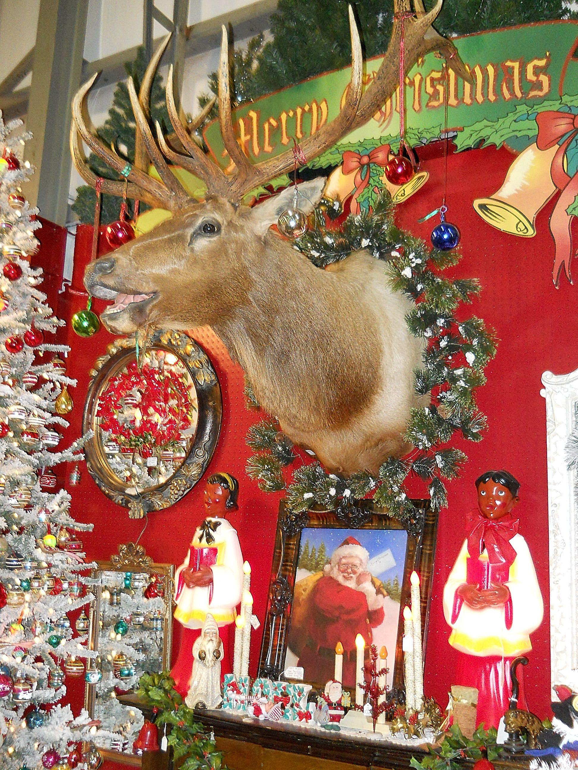 Antique christmas decorations for sale photograph vintage